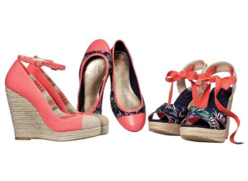 Three pairs of summer shoes