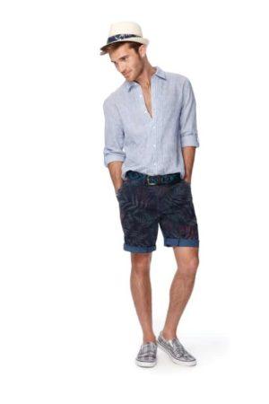Men's palm printes shorts