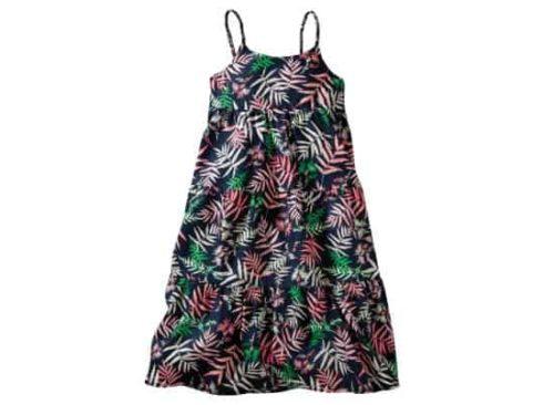 palm print dress for girls