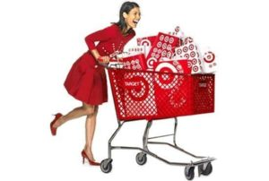 target review: happy shopper pushing shopping cart