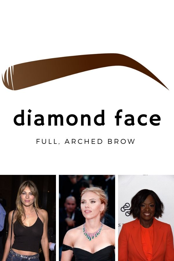 Best eyebrow shape for diamond face