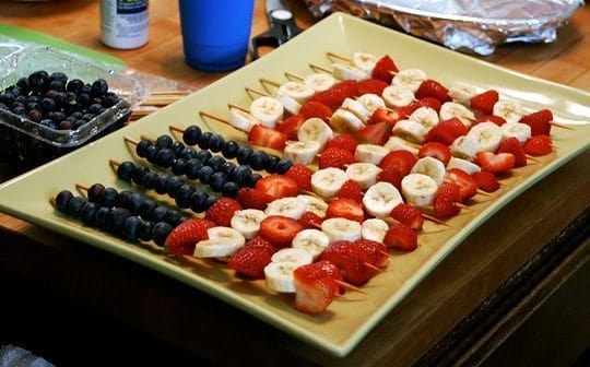 Fourth of July food tray