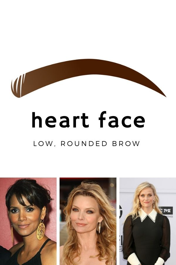 Best eyebrow shape for heart-shaped faces