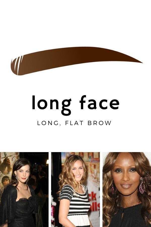 Best eyebrow shape for long faces