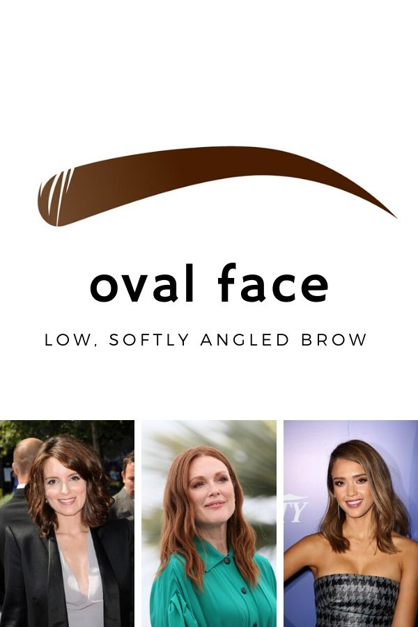 Best eyebrow shape for oval faces