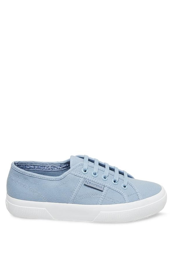 Baby blue superga sneakers - great shoe for picnic outfits