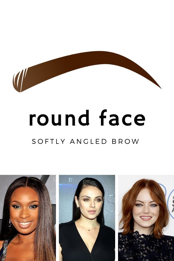 Best eyebrows for round faces