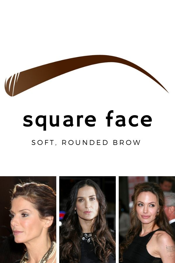 Best eyebrow shape for square faces