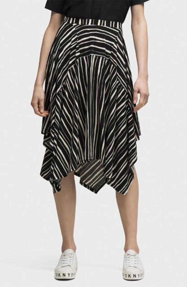 Striped handkerchief skirt for summer