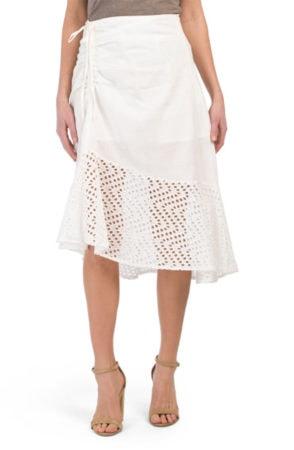 white eyelet skirt from TJMaxx