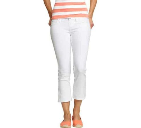 white denim crop pants