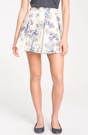 Frenchi Box Pleat Full Skirt