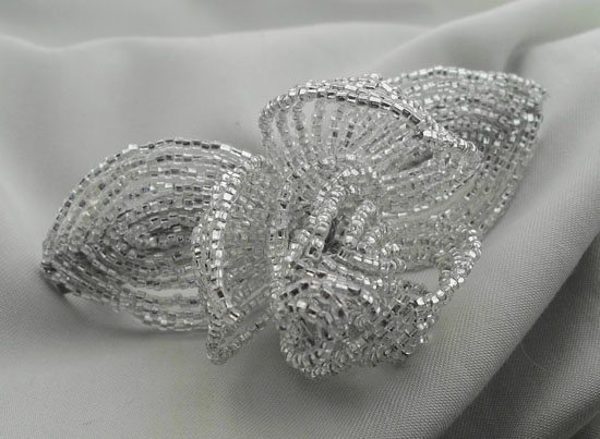 Silver Fascinator Barrette