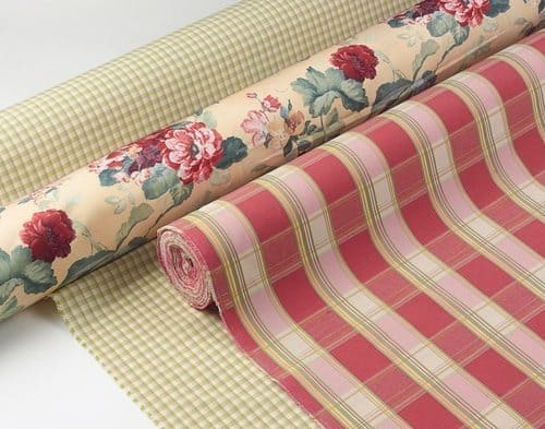 Floral and Plaid fabrics