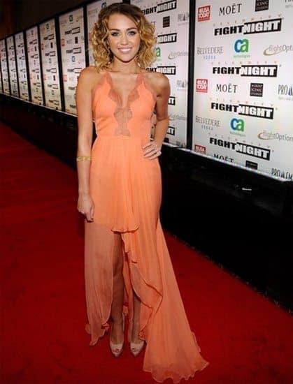 Miley Cyrus High-Low Dress