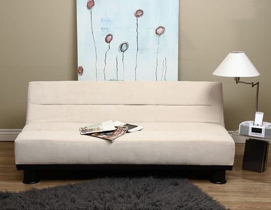 Cream Velvet - Look Sofa Bed