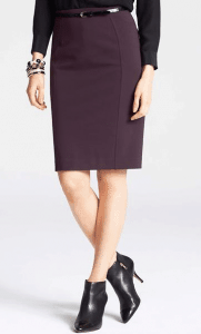 Pencil skirt and booties outfit