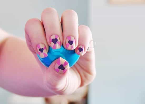 Heart Burst Nail Tutorial