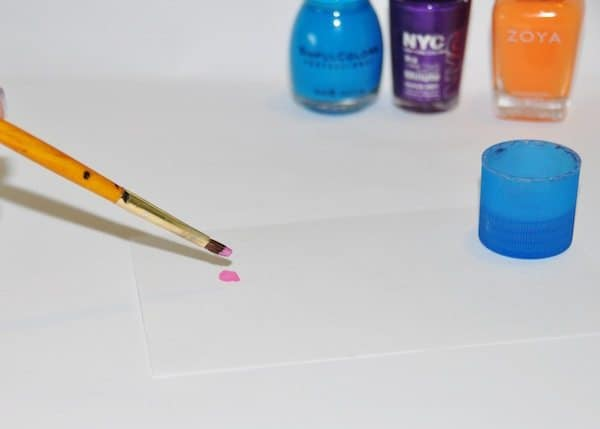 watercolor nails tutorial - Step 1