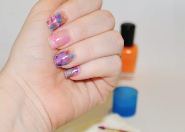 watercolor nails tutorial - Step 4