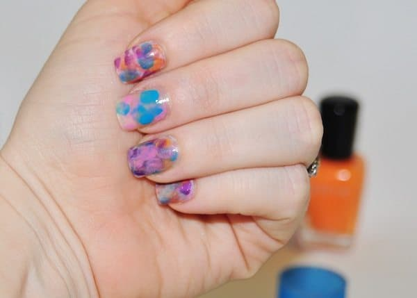 watercolor nails tutorial - Step 5
