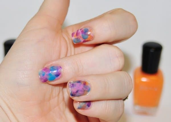 watercolor nails tutorial - Step 6