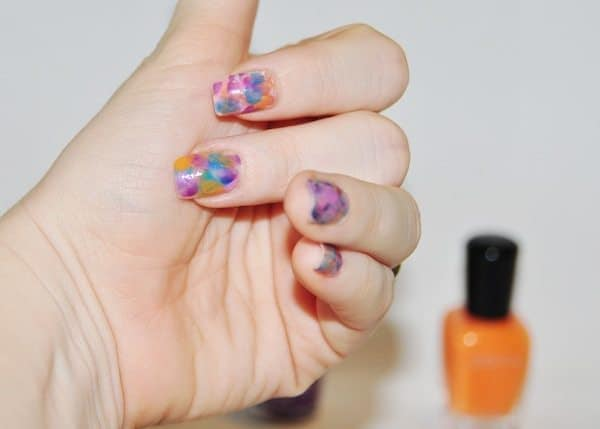 watercolor nails tutorial - Step 7