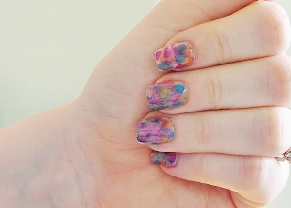 Does This Watercolor Nail Tutorial Remind You of the '90s?