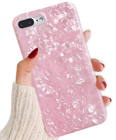 pink jewel style iphone plus case