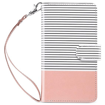Wallet style iphone plus case
