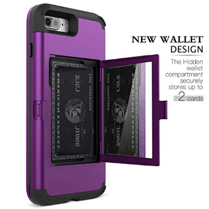 Purple wallet style case for iphone plus