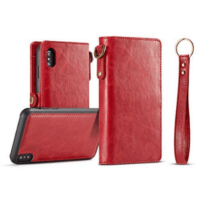 Red wallet style iphone case