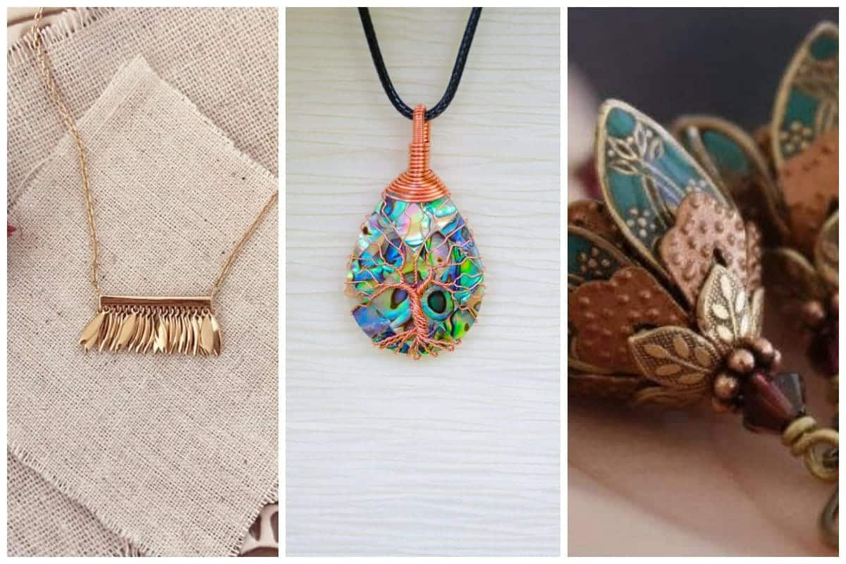 Collage of Etsy jewelry