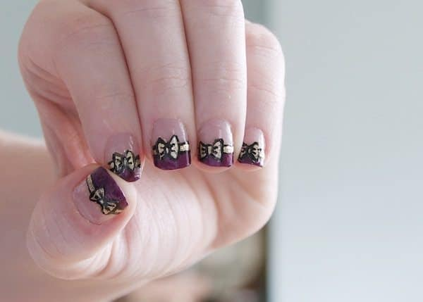 Put a Bow On It: Bow Nail Manicure