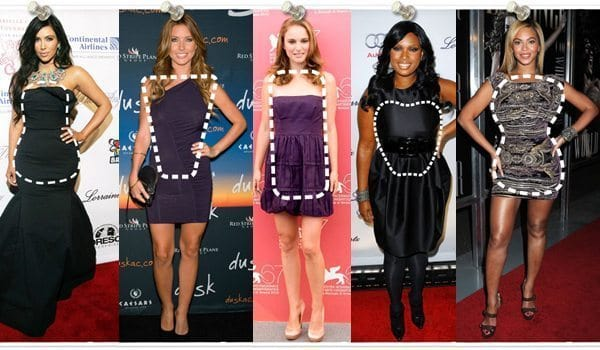 dressing for your body type - celebrities with different body shapes