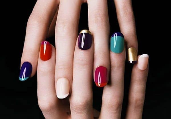 Multicolor Fall Manicure