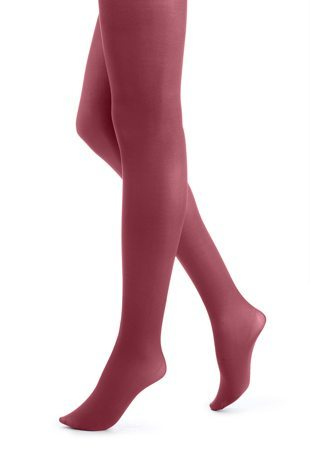 Opaque Tights in Scarlet