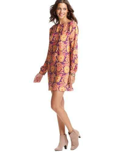 Paisley Print Blouse Dress