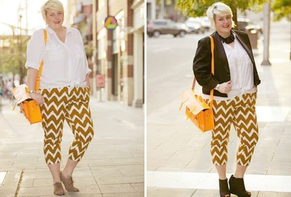 Margie Plus: Printed Pants