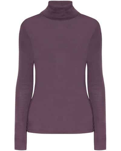 Splendid Stretch-Jersey Turtleneck Top