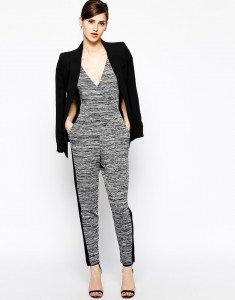 Grey cocktail party jumpsuit