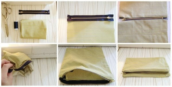 A Zipper Clutch DIY Tutorial: Zip It Like It's Hot