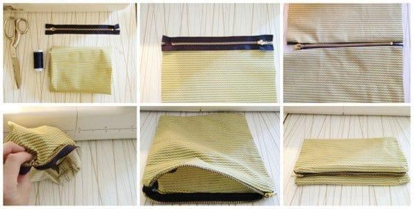 A Zipper Clutch DIY Tutorial: Zip It Like It's Hot
