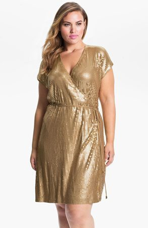 MICHAEL Michael Kors Sequin Wrap Dress