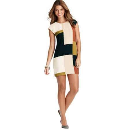 Printblocked Wedge Dress
