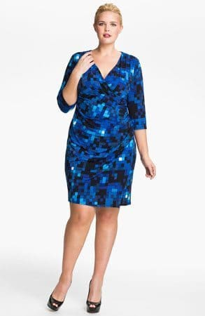 Eliza J Ruched Jersey Dress