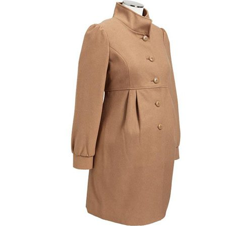 Maternity Button-Front Wool-Blend Coats