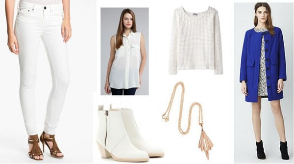 Four New Ways to Wear White Jeans in Winter