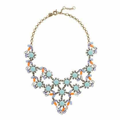 Pastel and Neon Statement Necklace by J Crew
