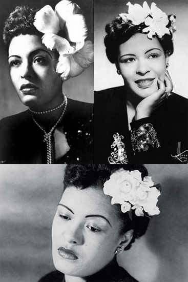 Billie Holiday signature look